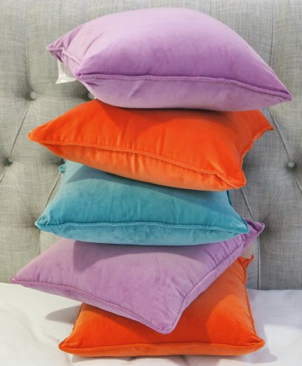 Velour Cushion - Violet